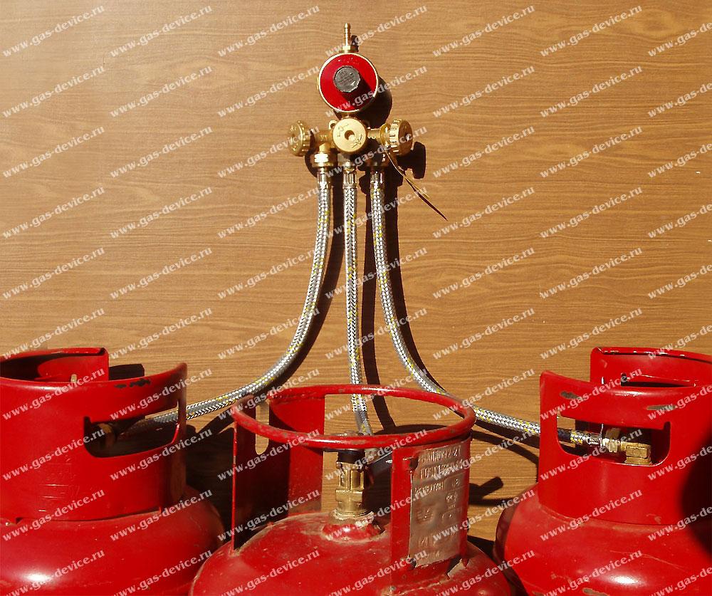 схема подключения газовой колонки к баллону